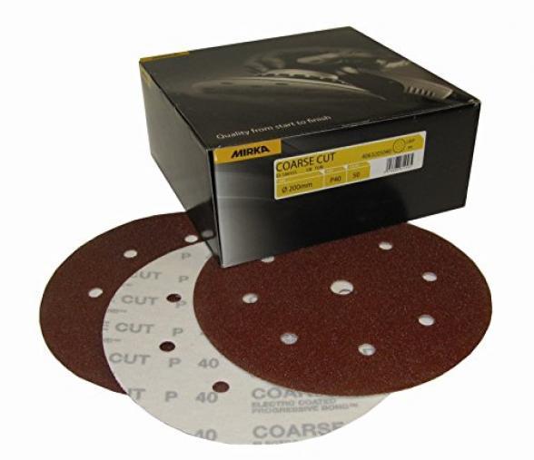 Boite de 50 disques coarse cut Mirka  150mm Grip 9T P120
