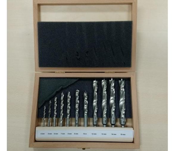 Coffret FISCH-FAMMAB 11 forets bois diamètre 4/5/6/7/8/9/10/12/13/14 & 15mm