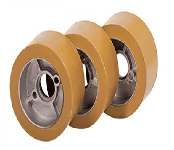 Galet en caoutchouc diamètre 120 x 60 mm