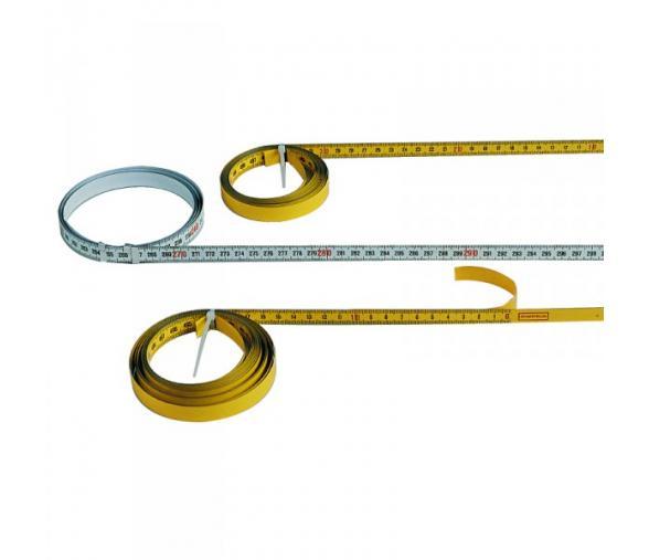 Ruban gradué 3ml, section 10x0.2mm, sens de lecture GAUCHE/DROITE (acier émaillé, autocollant)