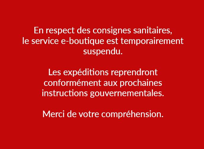 Service eboutique suspendu